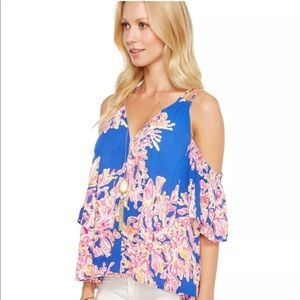 Lilly Pulitzer 'Bellamie' Cold Shoulder Top